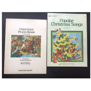 2 Piano Books ( Includes a Book of Christmas Songs )