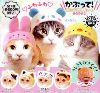 PO - set of 7: Cat headwear gachapon