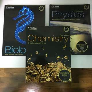 Biology, Physics And Chemistry Textbooks