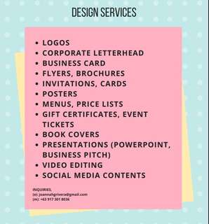 Business Card, Online Advertisement, Video Editing