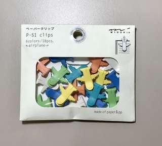 Midori Airplane P-Clip Paper Clips