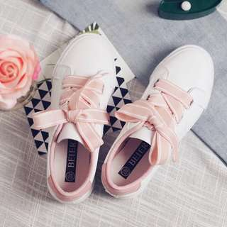 PO casual ribbon shoes