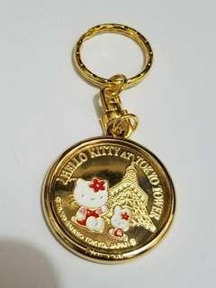 Sanrio Hello Kitty 日本東京鐵塔紀念幣及扣