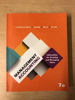 ACC2002 Management Accounting 7e, Langfield-Smith et al