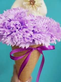 Purple Cone Bouquet Bear