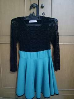 Dress black&green