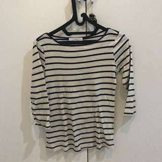 zara top stripes