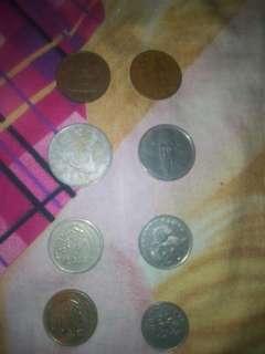 Uang lama indonesia,arab,singapure,korea