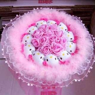 Hello Kitty Pink Flower Bouquet