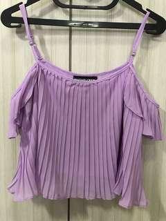 Lavender sabrina Off shoulder Top