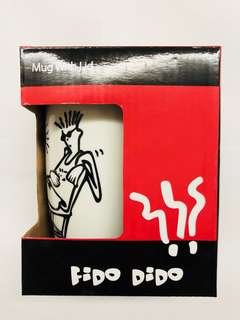 7-Up Fido Dido White Ceramic Mug with Lid