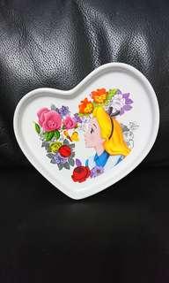 日本迪士尼 愛麗斯 陶瓷碟仔 a款