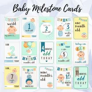 Baby Milestone Cards - Baby Boy