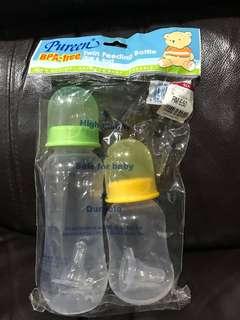 BPA Free Twin Feeding Bottles (8oz & 4oz)