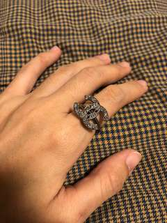 Brand new 100% authentic Chanel classic double c ring