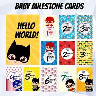 Baby Milestone Cards - Superhero