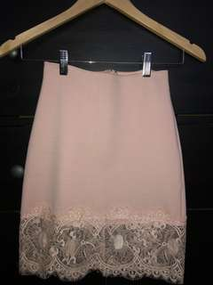 Lulus Lace Pink Skirt