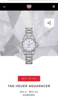 Preloved Tag Heuer 100% authentic diamond watch