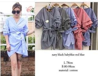 dress kimono wrap ruffle