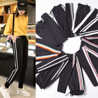 (S~5XL) Casual pants sports pants spring clothes