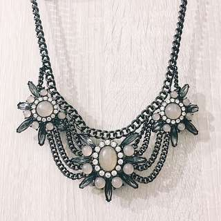 F21 Black Statement Necklace