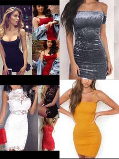 Po | cocktail / party bodycon bandage dresses