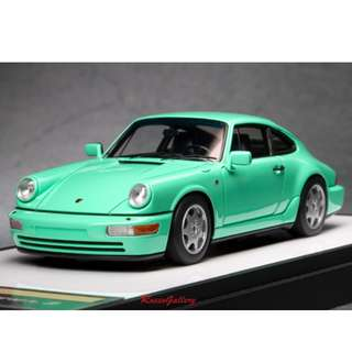 全新Make Up 1:43 Porsche 911 (964) Carrera 2 1990 Early Version Mint Green VM125E