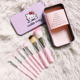 Hello Kitty 7-pc Brush Set w/ Case
