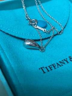保證真品 蒂芬妮 Tiffany 純銀 水滴 項鏈 項鍊 二手 經典款 九成新 蒂芙妮 刻字清楚 女孩最愛