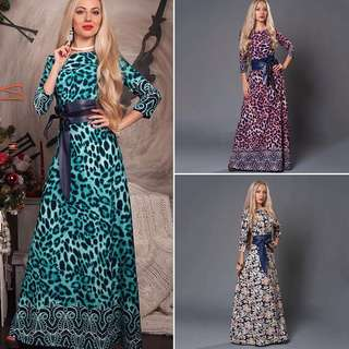 Free Shipping Promotion-15-25 Days Shipping for Women Floral Evening Long Gown Maxi