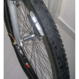 "26"" bike wheels . bicycle 26 inch wheels (both front and rear) with tires and tubes"