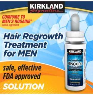5% minoxidil 60ml bottle (for 1 month ) , Kirkland brand