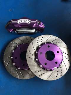 NIBK BBK Brake Kit 6 Pot, 304mm Drilled Slotted Rotor 5x114.3