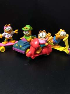 Vintage macdonalds Garfield toys