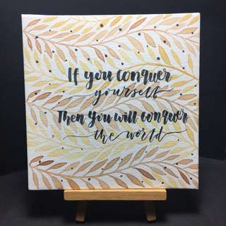 Calligraphy Watercolour Canvas Art