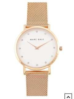 Marc bale Rose Gold Crystal watch- Rose Gold