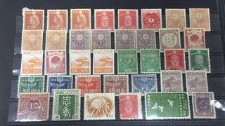 日本早期切手新票一頁