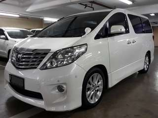 Toyota Alphard 2.4 S-Premium Sound th.2008.type Tertinggi. Option COOL Box, Double Sunroof, 18speaker