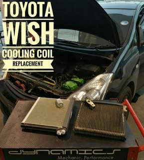 Toyota Wish : Cooling Coil & Expansion Valve Replacement