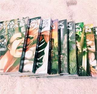 Attack On Titan Manga Comic Book Vol 1-9