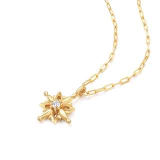 18K Yellow Gold Necklace with Diamond~ Mothers Day Gift!