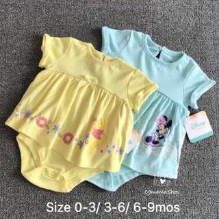 出口 美國 卡通 小公主 女童 BB 短袖 夾衣 連衣裙