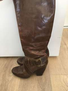 FRYE Andrea Belted Tall Boot 7.5