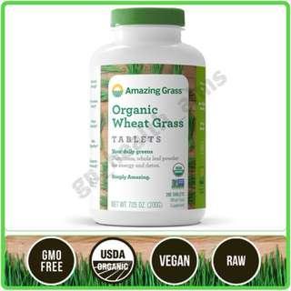 新裝 Amazing Grass 有機小麥草丸 Organic Wheat Grass Tablets 1000mg 綠丸 酸鹼平衡 營養豐富