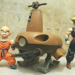 Dragon Ball Z Action Figures and Goku's Hover craft