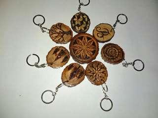 "Gantungan kunci atau souvenir gambar ""kayu lukis siluet"""