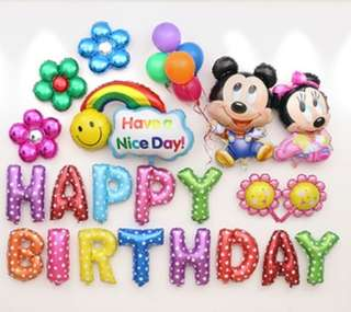 Baby mickey and minnie mouse balloon set