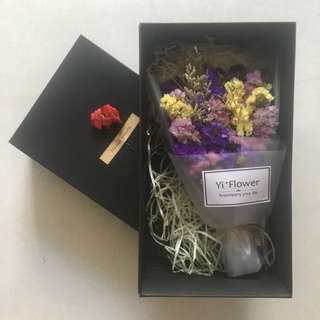 Dried Flowers Bouquet In Gift Box