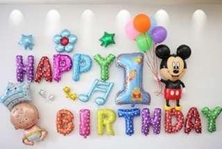 Mickey 1 balloons set
