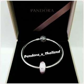 PANDORA -7折 粉紅立體心心琉璃珠 - 保證真品*購自HK專櫃